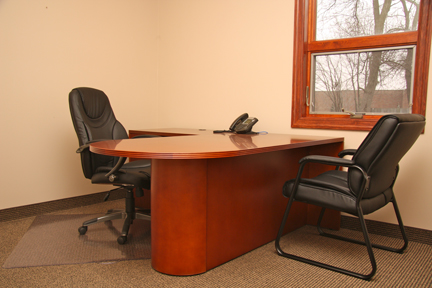 furnished private office